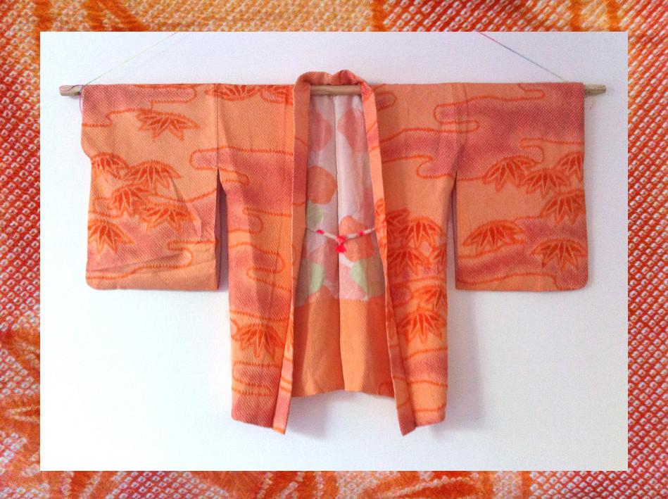 Random work from DEARHUNTER  | VINTAGE PORTFOLIO | Haori Shibori Coral Flowers