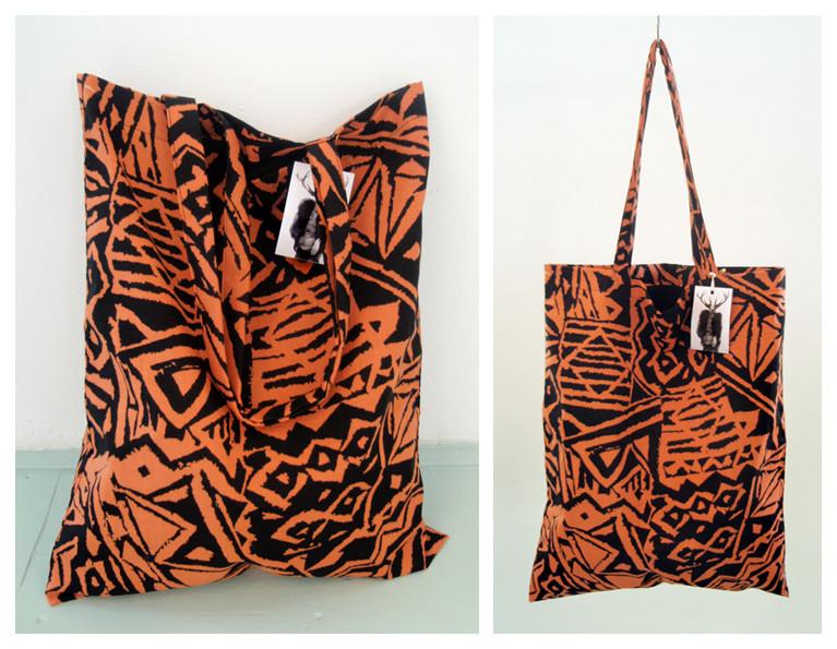 Random work from DEARHUNTER  | BAGS | DH Orange Black Aztec Print Bag