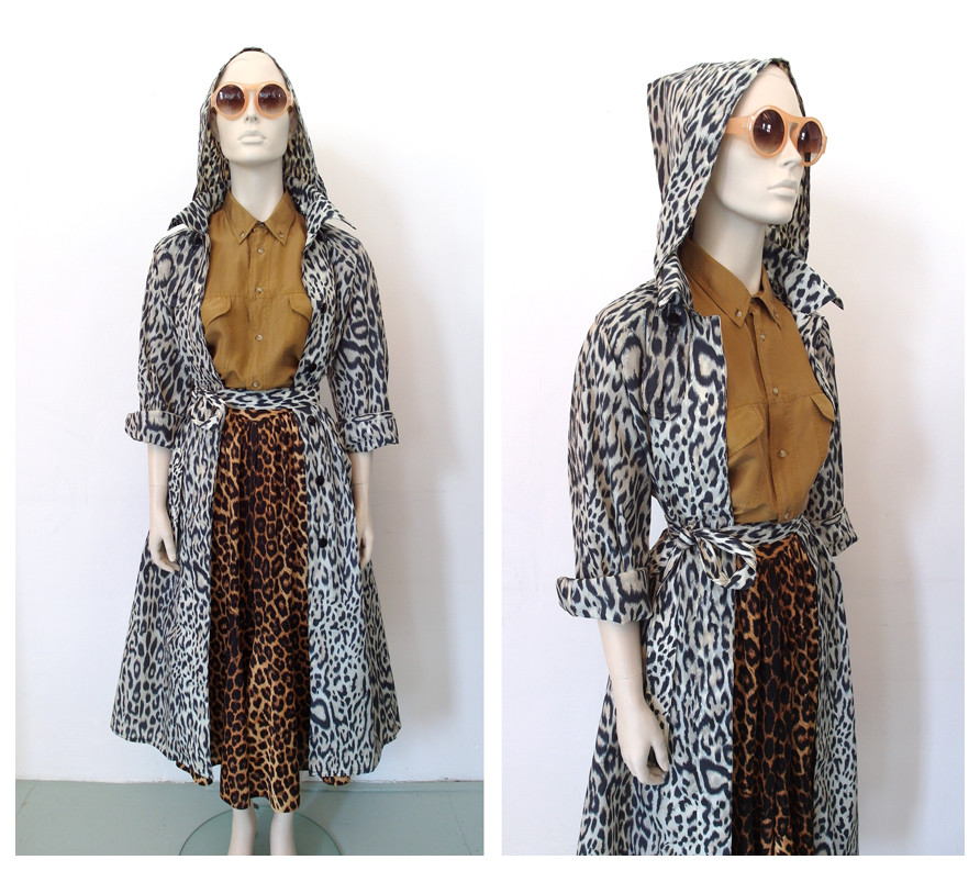 Random work from DEARHUNTER  | DRESS UP DOLLS | Leopard Trenchcoat and Skirt