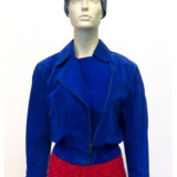 kobalt_suede_jacket_raspberry_pencil_skirt