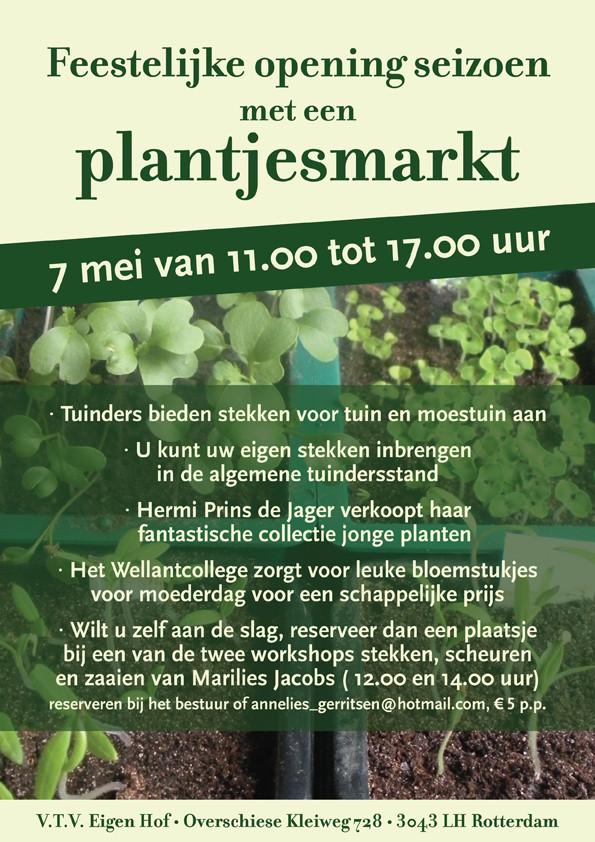 Random work from Groots Ontwerp | Volkstuinvereniging | Flyer plantjesmarkt