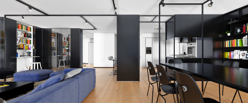 URBAN OFFICE ARCHITECTURE RESIDENTIAL LOFT NYC UES - Aviators villa urban office architecture